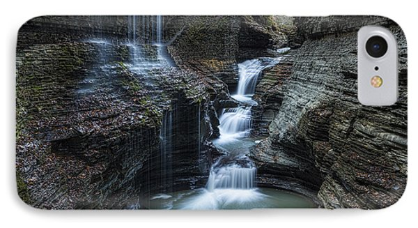 Watkins Glen Rainbow Falls IPhone Case by Stephen Stookey