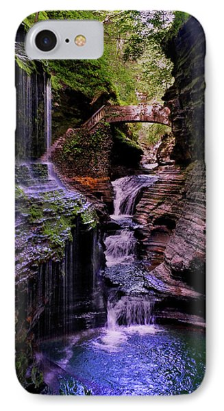 Watkins Glen State Park - Rainbow Falls 002 IPhone Case