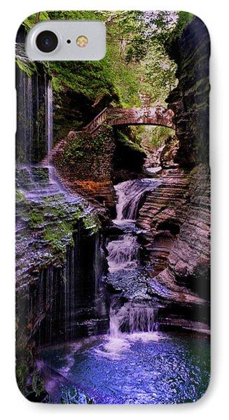 Watkins Glen State Park - Rainbow Falls 002 IPhone Case by George Bostian