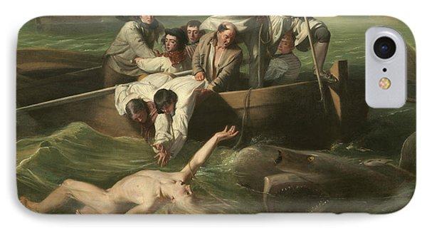 Watson And The Shark IPhone Case by John Singleton Copley