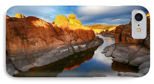 Watson Lake Arizona 10 IPhone Case by Bob Christopher