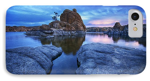 Watson Lake Arizona 4 IPhone Case by Bob Christopher