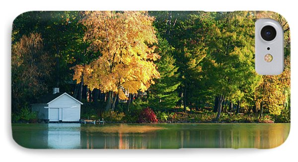 Waupaca Chain Boathouse IPhone Case