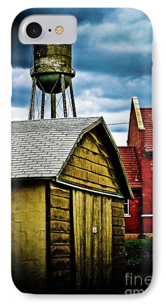 Waurika Old Buildings IPhone Case by Toni Hopper