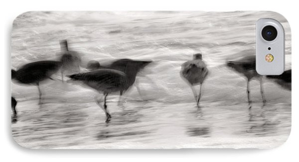 Plundering Plover Series In Black And White 3 IPhone Case by Angela Rath