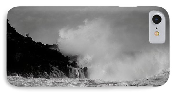 Wave Watching IPhone Case by Roy McPeak