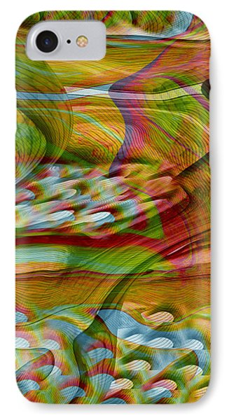 Waves And Patterns Phone Case by Linda Sannuti