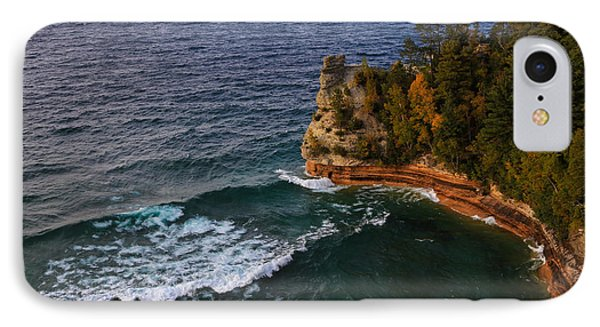 Waves At Miners Castle IPhone Case by Rachel Cohen