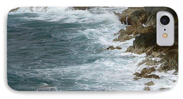 Waves Lashing Rocks IPhone Case by Margaret Brooks