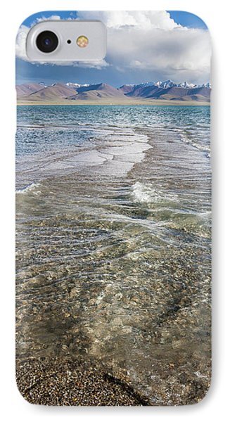IPhone Case featuring the photograph Waves Of Namtso, Tibet, 2007 by Hitendra SINKAR