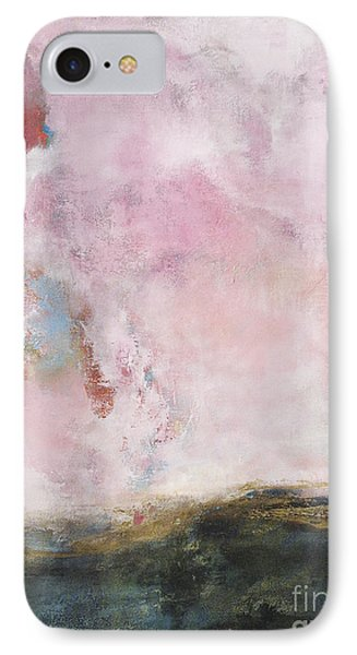 Waves Of Pink Abstract Art IPhone Case by Anahi DeCanio