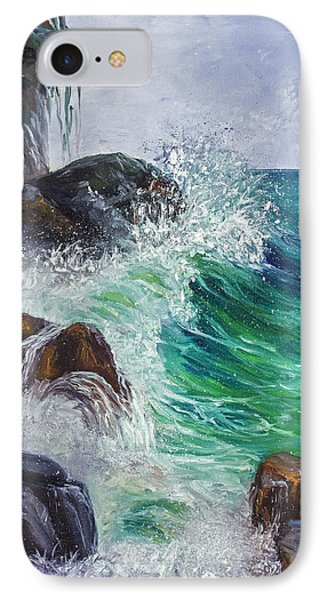 IPhone Case featuring the painting Waves On Maui by Darice Machel McGuire