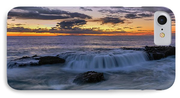 IPhone Case featuring the photograph Wave Over The Rocks by Eddie Yerkish