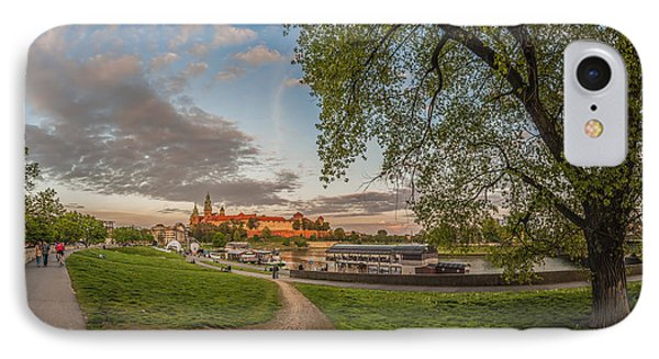 Wawel Royal Castle Seen From Vistula Bank In 16x9 IPhone Case by Julis Simo