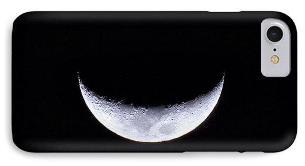 Waxing Crescent Moon Night 3 IPhone Case by Mark Andrew Thomas