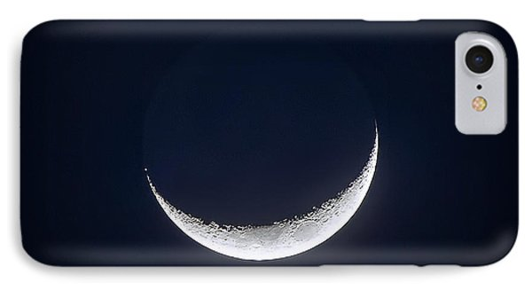 Waxing Crescent Moon Night  2 IPhone Case by Mark Andrew Thomas