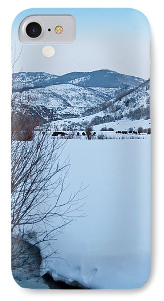 IPhone Case featuring the photograph Waxing Super Moon Over Salt Crk by Daniel Hebard