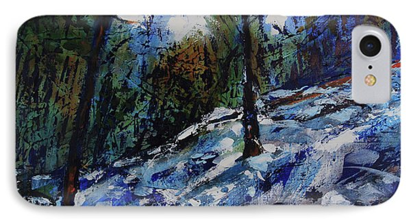 IPhone Case featuring the painting Way Of The Mono Trail by Walter Fahmy