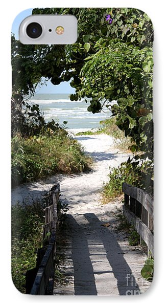 Way To The Beach IPhone Case by Christiane Schulze Art And Photography