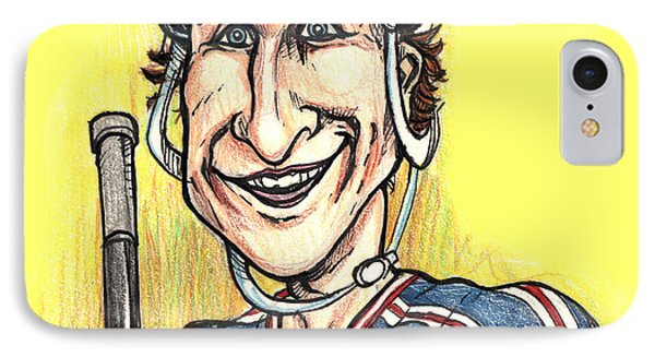 IPhone Case featuring the drawing Wayne Gretsky Caricature by John Ashton Golden