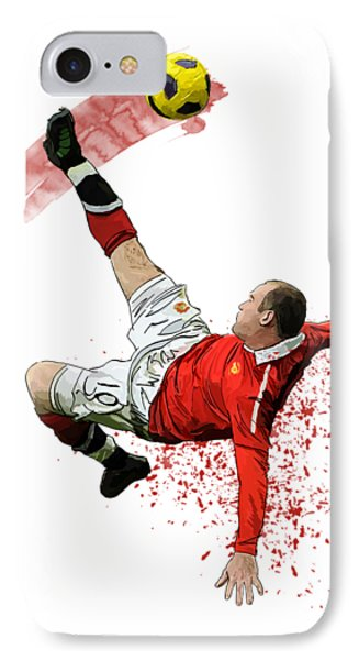 Wayne Rooney IPhone 7 Case by Armaan Sandhu