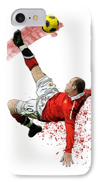 Wayne Rooney IPhone Case by Armaan Sandhu