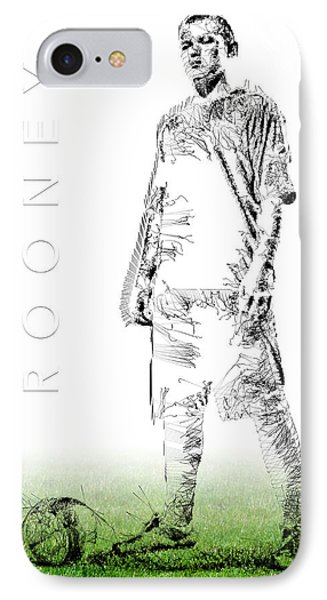 Wayne Rooney IPhone 7 Case by ISAW Gallery