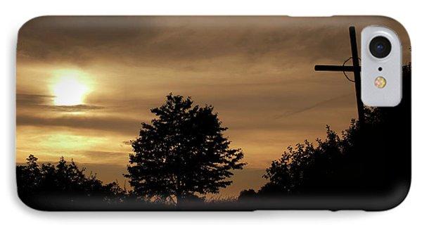 Wayside Cross In The Dusk IPhone Case