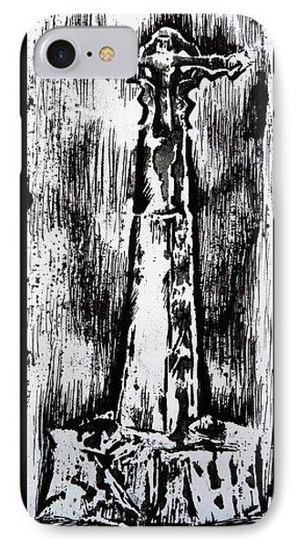 Wayside Cross Phone Case by Lucy Deane