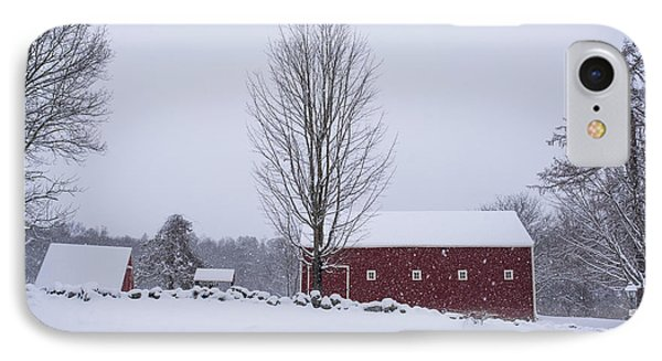 Wayside Inn Grist Mill Covered In Snow Storm 2 IPhone Case