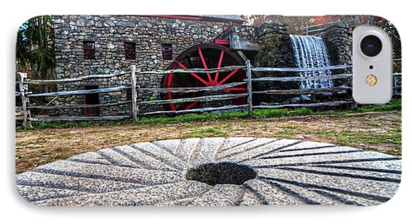 Wayside Inn Grist Mill Millstone IPhone Case by Toby McGuire