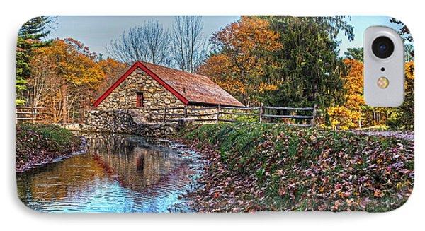 Wayside Inn Grist Mill Stream Sudbury Ma IPhone Case by Toby McGuire