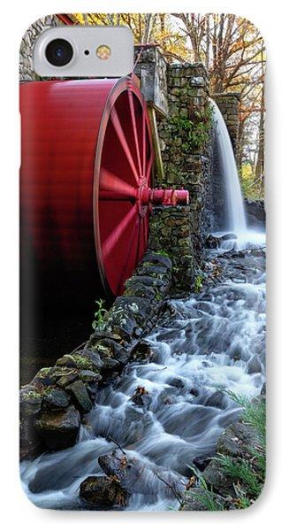 Wayside Inn Grist Mill Water Wheel IPhone Case
