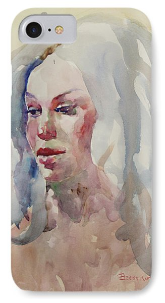 Wc Portrait 1617 IPhone Case by Becky Kim