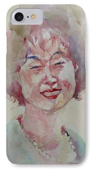 Wc Portrait 1627 My Sister Hyunju IPhone Case by Becky Kim