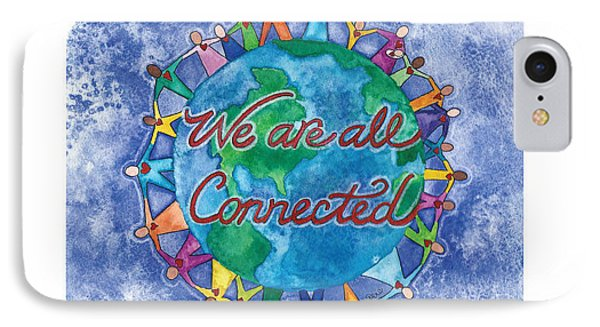 We Are All Connected Phone Case by Debi Hammond