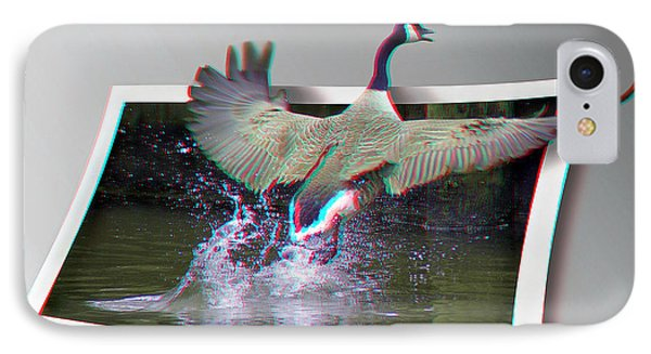 We Have Liftoff - Use Red-cyan 3d Glasses Phone Case by Brian Wallace