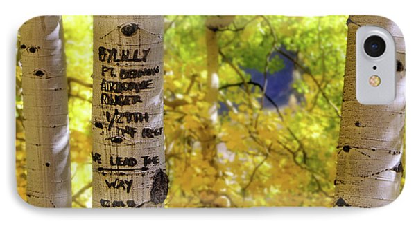 IPhone Case featuring the photograph We Lead The Way - Aspens - Colorado - Airborne Ranger by Jason Politte