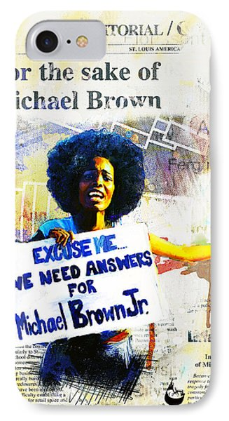 We Need Answers IPhone Case by Howard Barry