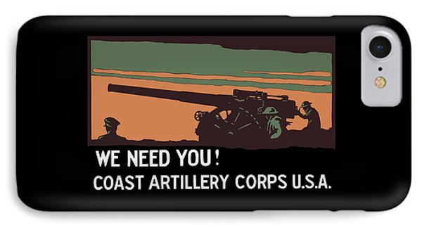 We Need You - Coast Artillery Corps Usa IPhone Case