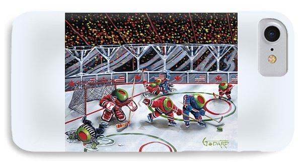 We Olive Hockey IPhone Case by Michael Godard