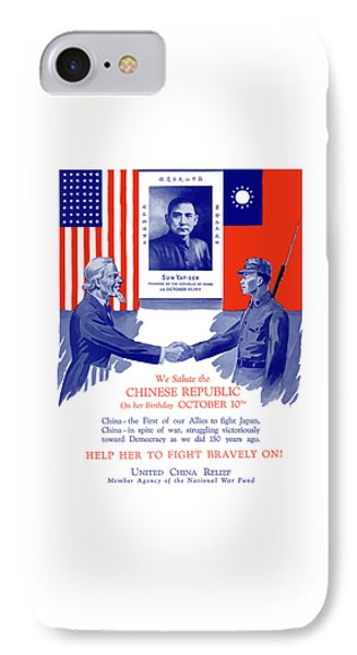 We Salute The Chinese Republic Phone Case by War Is Hell Store