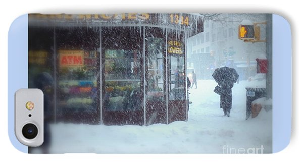 We Sell Flowers - Winter In New York IPhone Case by Miriam Danar