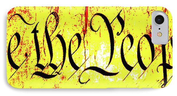 We The People Celebrate A Republic Artist Series Jgibney The Museum Phone Case by The MUSEUM Artist Series jGibney