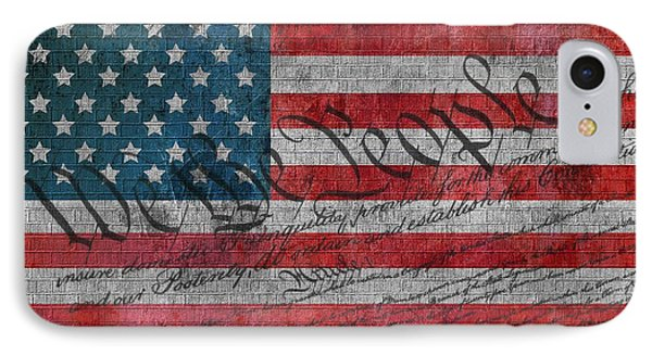 We The People IPhone Case by Dan Sproul