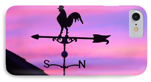 IPhone Case featuring the digital art Weather Vane, Wendel's Cock by Jana Russon