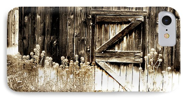 IPhone Case featuring the photograph Weathered Barn Door by Gray  Artus