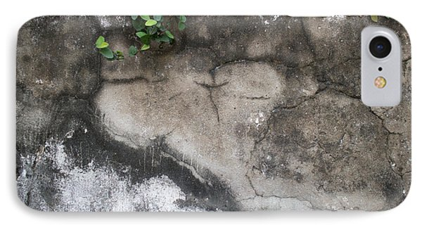 IPhone Case featuring the photograph Weathered Broken Concrete Wall With Vines by Jason Rosette