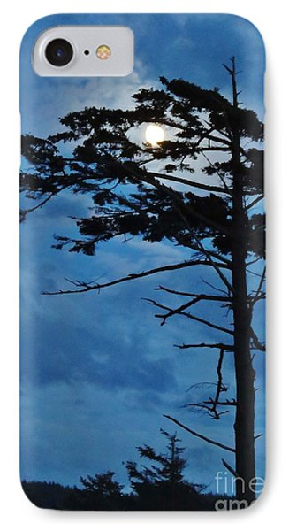 Weathered Moon Tree IPhone Case