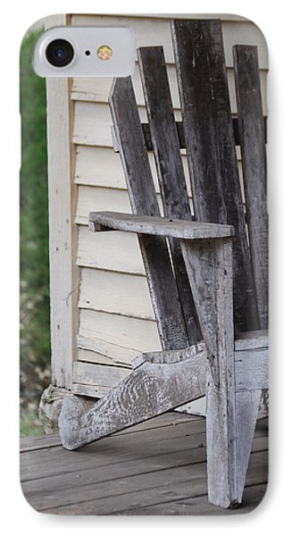 IPhone Case featuring the photograph Weathered Porch Chair by Debbie Karnes